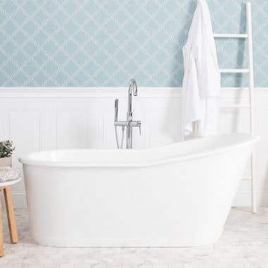 Exley 67 Inch Cast Iron Double Ended Skirted Tub
