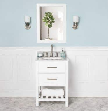 Everett 24 Inch Birch & Oak Console Vanity