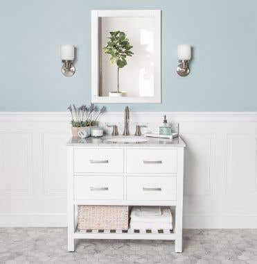 Everett 36 Inch Birch & Oak Console Vanity