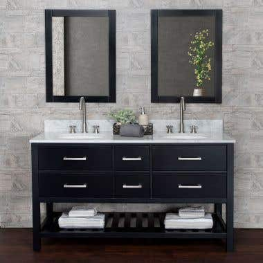 Everett 60 Inch Birch & Oak Console Vanity
