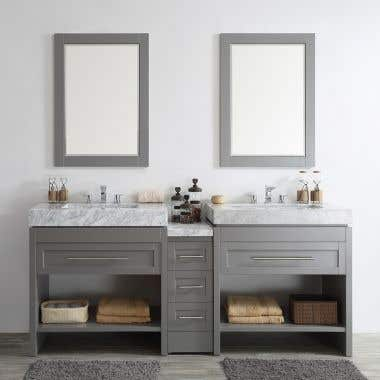 Emerson 84 Inch Birch & Oak Console Double Vanity