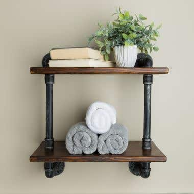 Randolph Morris Double Rack Bathroom Shelf