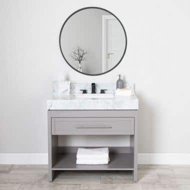 Emerson 35 Inch Birch & Oak Console Vanity