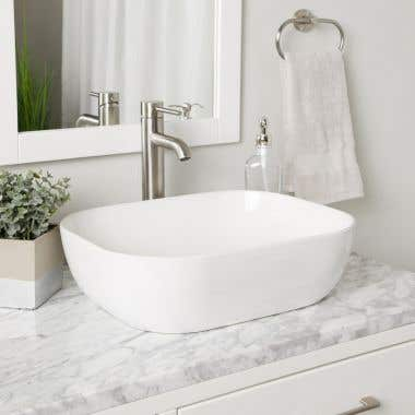 Mindy Rectangular Vessel Bathroom Sink