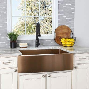 Stainless Steel 30 Inch Single Bowl Apron Front Farmhouse Kitchen Sink