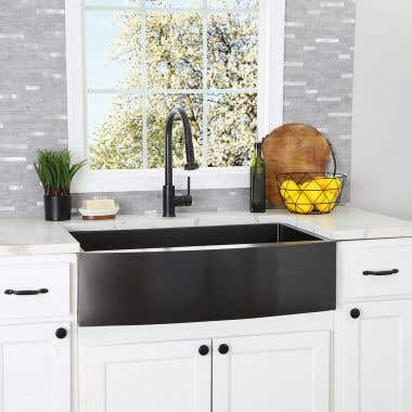 Stainless Steel 33 Inch Single Bowl Apron Front Farmhouse Kitchen Sink