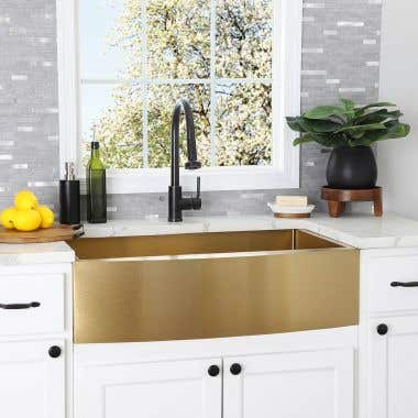 Stainless Steel 36 Inch Single Bowl Apron Front Farmhouse Kitchen Sink