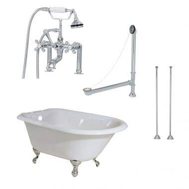 Randolph Morris 48 Inch Cast Iron Classic Clawfoot Tub Package
