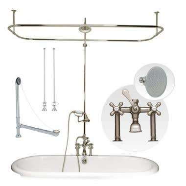 Randolph Morris Clawfoot Tub Side Mount Shower Enclosure Set