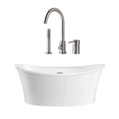 Silas Acrylic Double Slipper Freestanding Tub Package