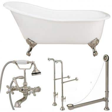 Randolph Morris 60 Inch Slipper Clawfoot Tub Package