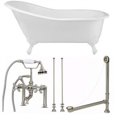 Randolph Morris 67 Inch Slipper Clawfoot Tub Package