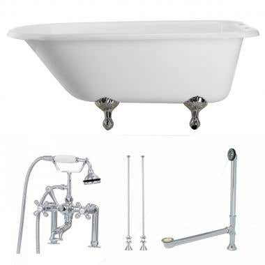 Chrome Tub Set
