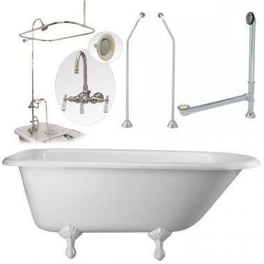 Heritage 60 Inch Classic Clawfoot Tub Package
