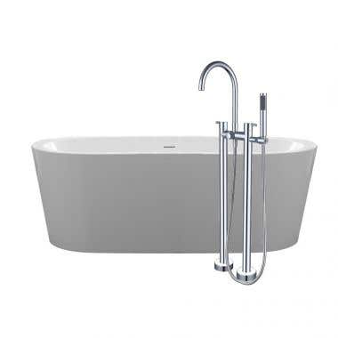 Randolph Morris 67 Inch Acrylic Double Ended Freestanding Tub Package