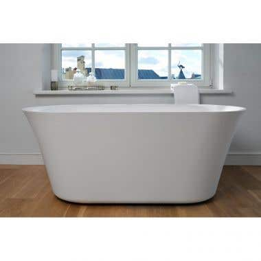 Aquatica Tulip Solid Surface Double Ended Freestanding Tub - No Faucet Drillings