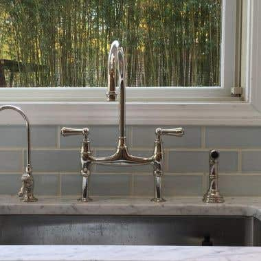 PERRIN & ROWE BRIDGE KITCHEN FAUCET WITH SIDESPRAY