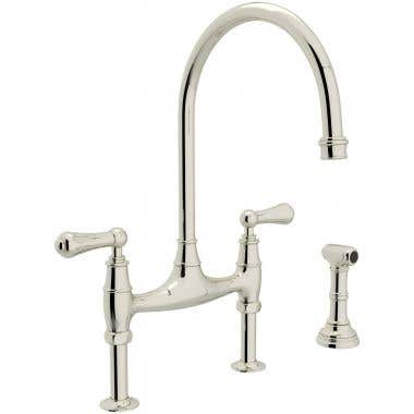 ROHL Perrin & Rowe Bridge Kitchen Faucet with Sidespray