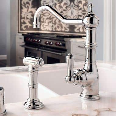 ROHL Low Lead Perrin & Rowe Single Lever Single Hole Kitchen Faucet with Spray
