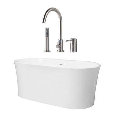 Una Acrylic Double Ended Freestanding Tub Package