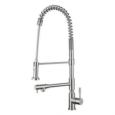 Whitehaus Waterhaus Commercial Faucet with Pull Down Spray and Pot Filler