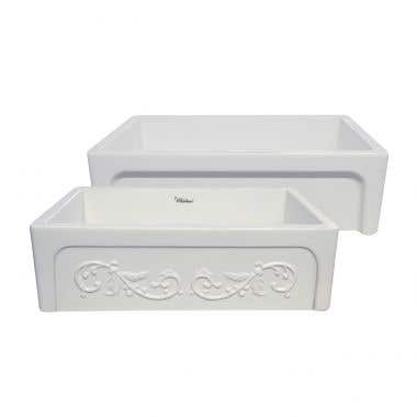 Whitehaus Collection Glencove St. Ives 33 Inch Reversible Fireclay Farmhouse Sink