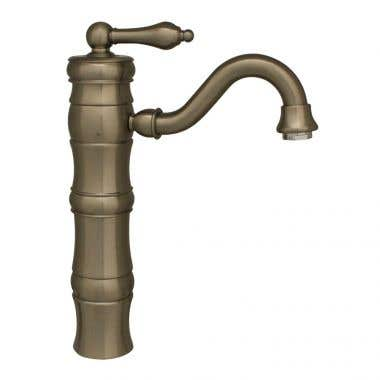 Whitehaus Vintage III Single Lever Elevated Faucet with Traditional Spout