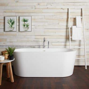 Wyatt  Acrylic Double Ended Freestanding Tub Package