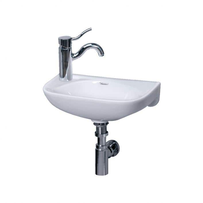 Small Wall Mount Sink Left Side, Wall Mount Sinks For Small Bathrooms